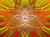 Skinande abstrakt bakgrund för guling och för apelsin Royaltyfria Bilder