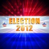 Skinande amerikanska flaggan för valår 2012, stjärnor Arkivbild