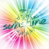 Skinande bakgrund för abstrakt vektor med solsignalljuset Arkivfoto