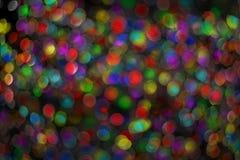 Skinande bakgrund för jul med ljus Royaltyfri Foto