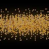 Skinande bakgrund för vektor med guld- paljetter bakgrund boards horisontalknotty sörjer textur Arkivbilder