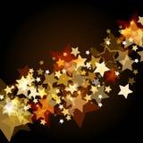 Skinande bakgrund med glödande stjärnor för abstrakt begrepp Vektorferiebac vektor illustrationer