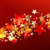 Skinande bakgrund med glödande stjärnor för abstrakt begrepp Vektorferiebac stock illustrationer