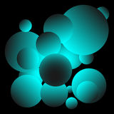 Skinande blå bollbakgrundsdesign Arkivfoton