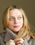 Skinande blåa ögon Royaltyfria Bilder