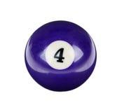 Skinande boll för billiard Royaltyfri Foto