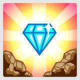 Skinande Diamond Icon vektor illustrationer