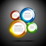 Skinande färgrik cirkelbakgrund Arkivfoto