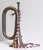 Skinande gammal trumpet Royaltyfri Bild