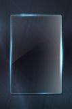 Skinande glass ram på grungy metallbakgrund royaltyfri illustrationer
