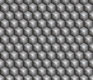 Skinande grå hexa kub vektor illustrationer