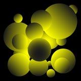 Skinande gul bollbakgrundsdesign Arkivbild