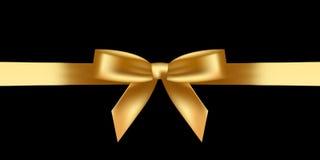 Skinande guld- pilbåge Arkivbilder