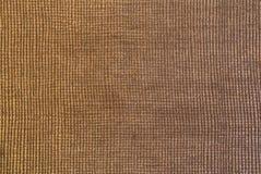 Skinande guld- texturerat tyg med fyrkantig modellmakro sköt för arkivbilder