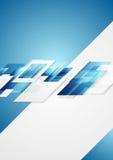 Skinande högteknologisk rörelsebakgrund för blåa grå färger Royaltyfri Bild