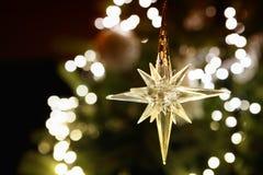 Skinande julstjärna royaltyfria bilder