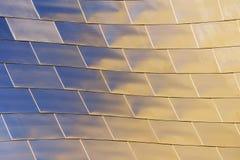 Skinande metalliska texturer Arkivbilder