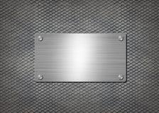 Skinande metallplatta på grå bakgrund vektor illustrationer