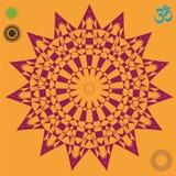 Skinande optisk illusionstjärnaaffisch Royaltyfri Bild