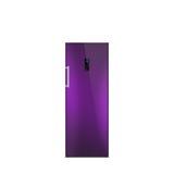 Skinande purpurfärgad frys som isoleras på vit Royaltyfri Fotografi