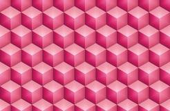 Skinande rosa hexa kub stock illustrationer