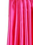 Skinande rosa siden- gardin Arkivbilder