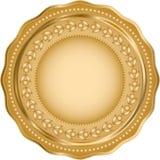 Skinande rund mall med den guld- gr?nsen arkivfoton