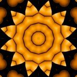 Skinande sömlös svart för gul guld för stjärnamodell Arkivbild