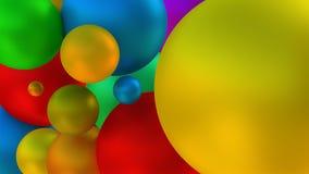 Skinande seende bollar framförande 3d Royaltyfri Foto