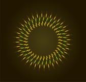 Skinande signalljus för ljus bokeh Arkivbilder