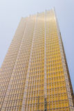 Skinande skyskrapa för modern exponeringsglasguling Royaltyfri Foto