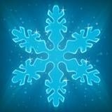 Skinande snöflinga. Royaltyfri Fotografi