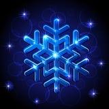 skinande snowflake royaltyfri illustrationer