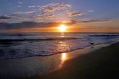 skinande solnedgång Arkivfoton