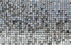 Skinande spegelsilverfyrkanter arkivbild
