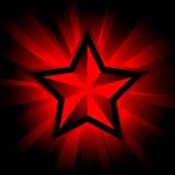 skinande stjärna Arkivbild