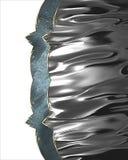 Skinande textur för metall Beståndsdel för design Mall för design kopiera utrymme för annonsbroschyren eller meddelandeinbjudan,  Royaltyfri Bild