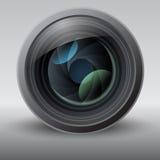 Skinande vektor Lens stock illustrationer