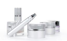 skincare温泉产品的汇集 免版税库存图片