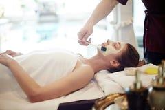 Skincare в роскошном КУРОРТЕ стоковые изображения rf