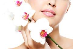 skincare губ красотки женское Стоковые Фотографии RF