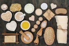 Skincare излечивать продукты стоковые фото