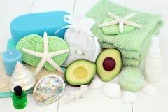 Skincare и продукты косметики курорта стоковая фотография