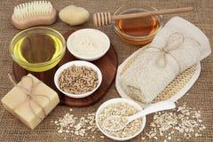 Skincare и продукты заботы тела Стоковое фото RF
