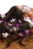 Skincare. And aromatherapy treatment at a spa Royalty Free Stock Photo