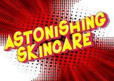 Skincare asombroso - palabras del estilo del cómic stock de ilustración
