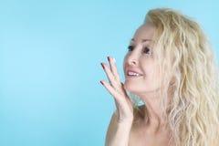 Skincare - beautiful mature woman Royalty Free Stock Photo
