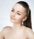 Skincare - beautiful young woman closeup stock photos