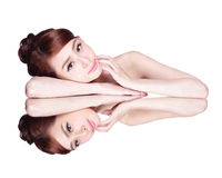 Skincare beauty woman Stock Image