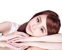 Skincare beauty woman Royalty Free Stock Image